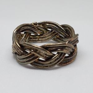 Sterling Silver Braid Woven Band Ring